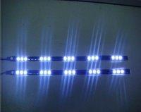 Free shipping/20pcs 5050 pure white car led strip 12V 15leds black FPC