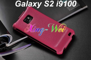 Galaxy S2 i9100 leather Case,Free Shipping 5pcs Ultra-Thin Real leather Genuine leather Case Pouch for Samsung Galaxy S2 i9100