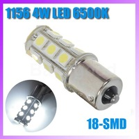 1156 4W 18-SMD LED 216-Lumen 6500K BrakeBackup White Light Bulb DC 12V   Free shipping