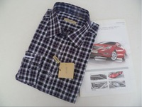100% genuine Cotton dress shirt for men,guys grid casual shirts FreeShipping size M-XXL