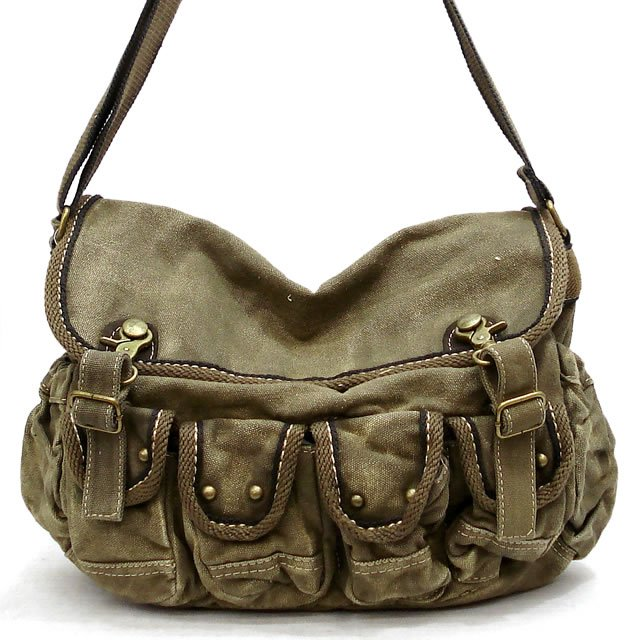 Vintage Tote Military Shoulder Messenger Canvas Bags 80