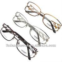 Free shipping fashion diamond eyewear Eyesjoy optical frames stainless steel eyeglasses