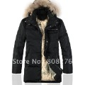 2012 New Fashion Men Hoodies Down Coat&Jacket,Black/Brown,M-L-XL-XXL-XXXL+Free shipping+Drop Shipping