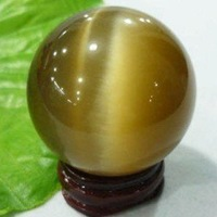 40mm Charming Cat's Eye Crystal Ball Orb Sphere  + stand