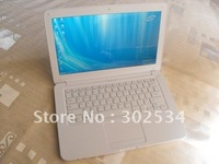 White  or black 14.1 inch LCD Laptop Intel Atom  1.66GHz 1GB DDR2 320GB HDD Windows 7 Notebook