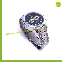Free shipping,waterproof watch camera Night Vision , 8GB 1080p hd ,Fine steel material ,small gift