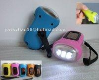 3led solar dynamo torch export for Japan market Dynamo Hand Crank Solar Powered 3 LED Flashlight Torch