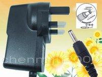 AC 100V-240V Converter Adapter DC 5V 2A Power Supply  UK  Plug 50PCS+ DHL Free shipping DC 3.5mm x 1.35mm 2000mA