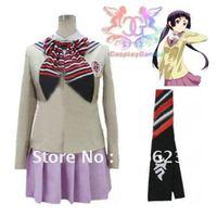 Wholesale Free Shipping Hot Selling Cheap New Halloween Cosplay Costume C4104 Ao no Exorcist moriyama shiemi girl school uniform