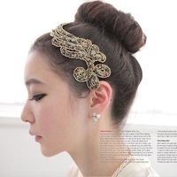 Free Shipping 10pcs/lot Wholesale Fashion Forehead Hair Decoration Girls Hairband Hair Jewelry,Lady Gift