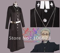 Wholesale Free Shipping Hot Selling Cheap New Halloween Cosplay Costume 4103 Ao no Exorcist Shiro Fujimoto Costume for Christmas