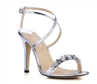 Star style lady sandals high heels women big size pumps woman wedding shoes dress shoes sandals A231