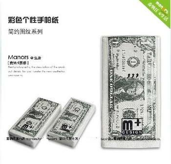 2012 NEW!!Wholesale 30pcs/lot,New Euro Money Printed Toilet Paper & Dollar Bill Tissue,the most luxurious toilet paper