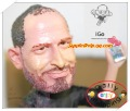 Wholesale CEO Steve Jobs Resin Figurine Figure Doll + i Phone Toy New Retail box Free Shipping