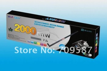 Free shipping!Wireless Lan card,2000MW HOT Selling,wifi decoder,Wireless USB adaptor,wifly city,wireless wifi receiver