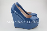 Free shipping,New arrival Patent Leather sexy high heels 34-43 Eur size,shoes women,women wedge pump SLWH005