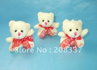 22pcs/lot free shipping wholesale fashion plush toy Cell Phone strap cute bear doll Pendant keychain for gift