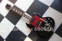 Special bridge Gloss Black SG Model 6 string electric Bass Guitar #909