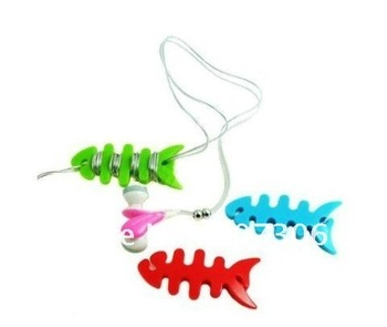 Free Shipping/Cute fish bone Earphone Cable Winder/Smart Wrap Cable Cord Wire Management Organizer/coiling line device/Wholesale