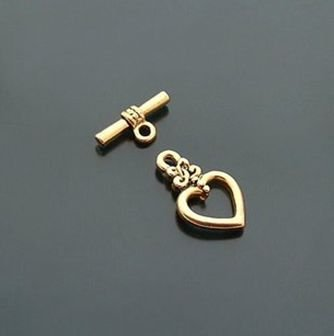 V Alphabet Images In Heart Gold plated heart clasps