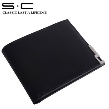 S.C Free Shipping + Brand Men Wallet + Leather Business Card Holder + Folding Business Card Holder QC0021-1