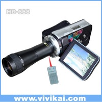 "vivikai 12mp HD 720P digital video camera with 3.0"" and telescope (HD-668T)"