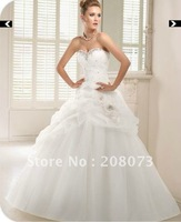 Sweetheart Strapless Beaded Organza ball gown Floor-length 2012 Petra 66023 Bridal Wedding Dress