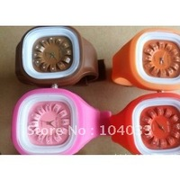 Lovely Unisex square jelly watches Silicone watch flower watches 50pcs free shipping via DHL EMS