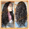 Hot sale 120% indian hair full lace wig curl with baby hair