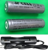 Package / wholesale  - 18650/3000mAh2 PCS lithium-ion battery 3.7V (5 pack) (single charger 5PCS) flashlight