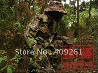 Men Outdoor Camping Hunting Clothes Suits Clothes+Pants+Hat Elastic Waist Free Shipping M L XL XXL(EMS 45%)1.3KG