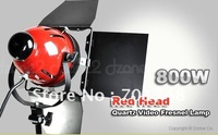 800W Studio Red Head Quartz Video Fresnel Lamp #S105