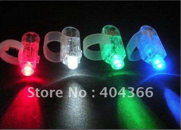 1000pcs Finger Lights finger ring magic beam laser lights party concert KTV supplies Toys LED Lights Free shipping DHL(China (Mainland))