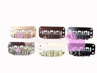 2012new Wholesale price 400pcs Mix Colors U Tip Snap Clips for Hair Extensions /wig /weft 32mm