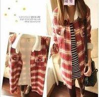 2012 warm velvet lapel thick shirt ladies  jacket wholesale A06069