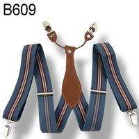 Mens 3.5 cm width Adjustable Clip-on solid gray suspenders braces BD609