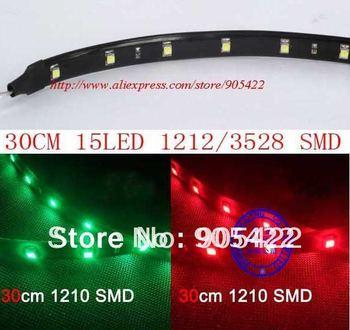 5pcs/lot 30cm 15 LED 3528 1210 SMD waterproof flexible led strip MC06p