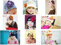 24pcs Baby girls beanies handmade crochet hat Children Beanies Children hats
