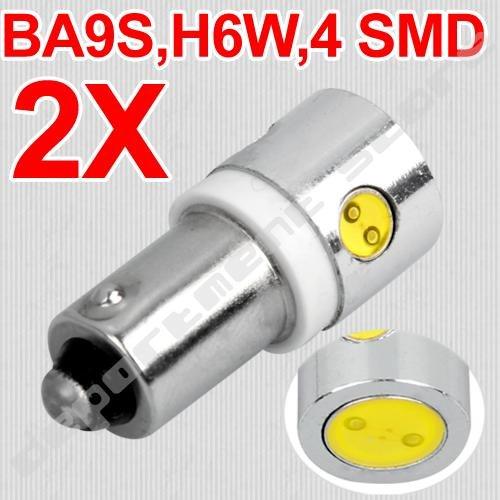 Источник света для авто 2 X BA9S H6W 12V 4 SMD Canbus источник света для авто edco 6 5 72w barlamp 4wd 12v 4 x 4 24v atv