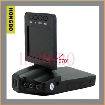 Автомобильный видеорегистратор Hot Sale! Brand new 2011 New Style 6 IR LED Vehicle Night Vision Camera Protable Car DVR 16A