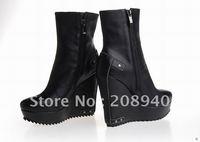 Wholesale 2012 Popular Women Winter Warm Shoes,Fashion Good Quality High Heel Shoes