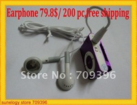 0.399$/pc,79.8$/200pc,good sound earphone for mp3,mp4 media player,free shipping,white color,