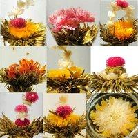 Organic china tea 100 Kinds Blooming Flower Tea, Eu certificate Artistic Tea,wholesale,white tea for anti-age,CK23,Free Shipping