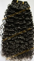High quality curly natural color malaysian virgin hair weft in stock