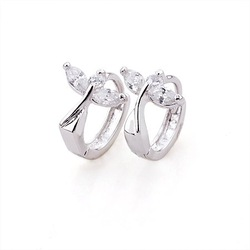 Free Shipping!!! Women's Dragonfly Style Platinum Plated & 0.35 CT Brilliant Cut Grade AAA CZ Diamond Eearring (110529-03)(China (Mainland))