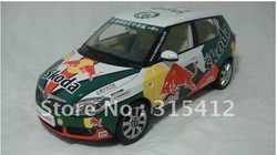 Free Shipping! wholesale and retail 1:18 skoda Fabia Red Bull Racing car model,model car,Christmas gift(China (Mainland))
