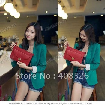 Vintage Fashion Women Small Shoulder Bag Gold Button Envelope  Purse Handbag free shopping 3540
