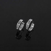 Free Shipping!!! Wholesale Quality Women's Vintage Style Platinum Plated Hoop Earrings, Factory Price! (111208-17)