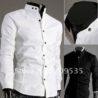 2012 New Arrival Casual shirts Men's long sleeve shirt 2colors Asian size M,L,XL,XXL Free shipping L084