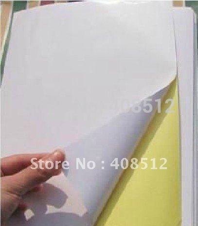 wholesale A4 blank white coated self-adhesive label sticker A4 label paper can be printed by laser/inkjet printer(China (Mainland))